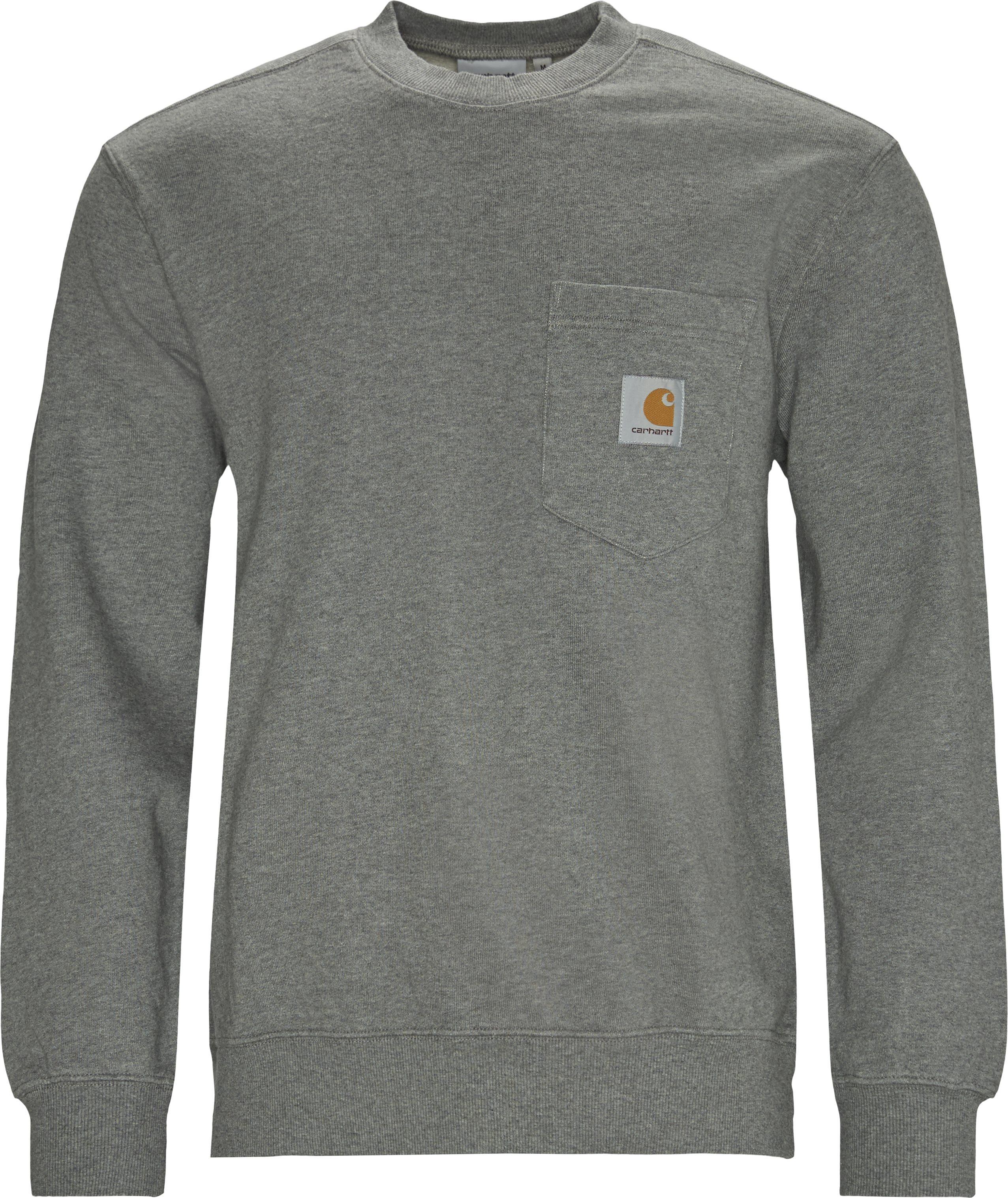 Pocket Sweatshirt - Sweatshirts - Regular - Grå